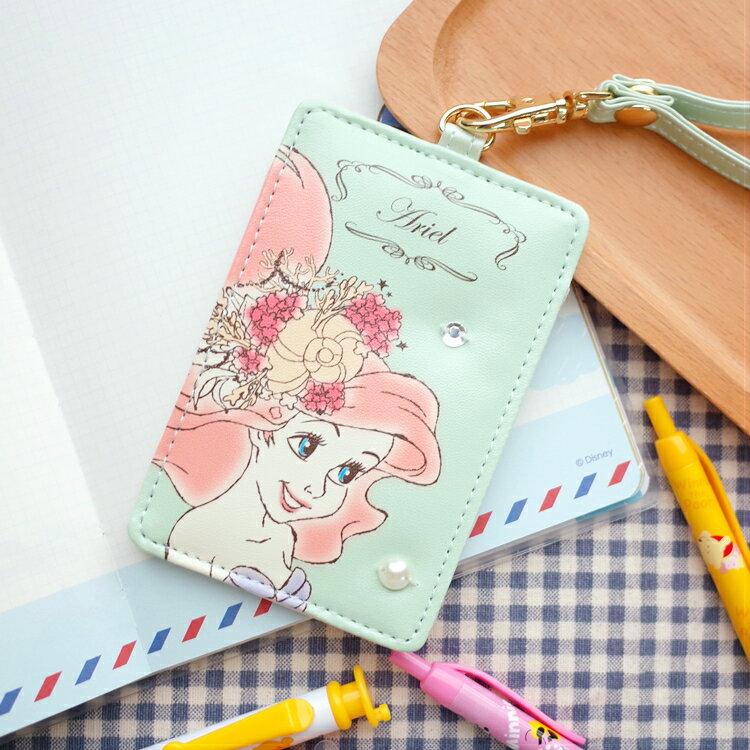 PGS7 日本迪士尼系列商品 - 日本 迪士尼 全皮質 票卡夾 悠遊卡夾 小美人魚 愛麗兒 Ariel【SGD7191】