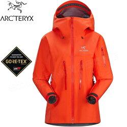 Arcteryx 始祖鳥Alpha SV 登山雨衣/風雨衣/Gore Tex Pro登山健行 頂級款 女款 18081 曙光紅