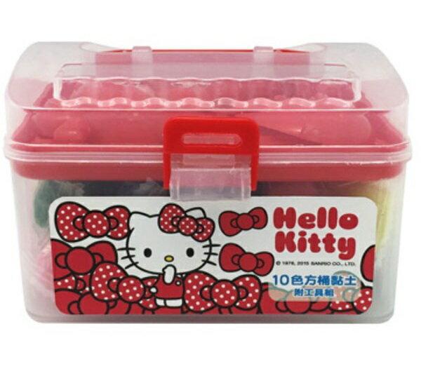 【真愛日本】15121200035 10色方桶黏土附工具 三麗鷗 KITTY 凱蒂貓 黏土玩具 遊戲