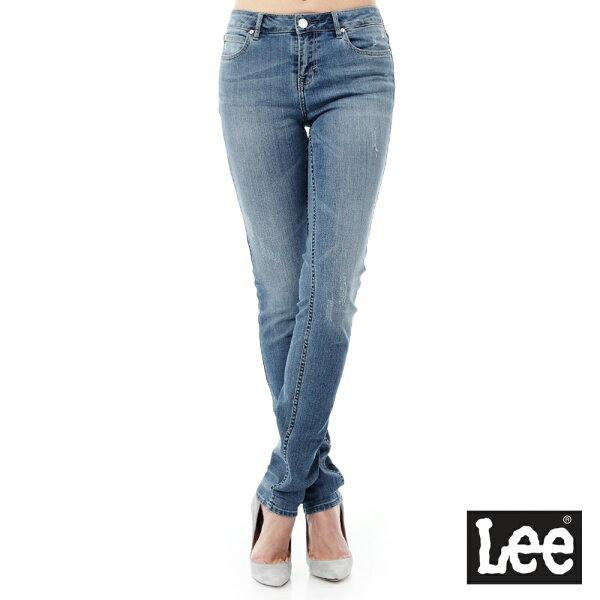 Lee Jeans tw:Lee牛仔褲409中腰合身小直筒牛仔褲RG-女款-藍【單筆消費滿1000元全會員結帳輸入序號『CNY100』↘折100