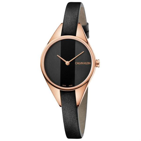 CK卡文克萊叛逆系列(K8P236C1)小巧個性時尚腕錶黑面29mm