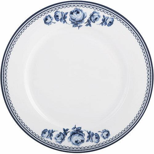 《CreativeTops》Katie復古藍淺餐盤(白27cm)