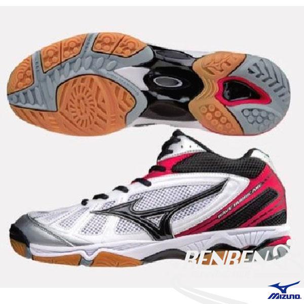 MIZUNO 美津濃 排球鞋 WAVE HURRICANE 2 (紅*白) 高筒
