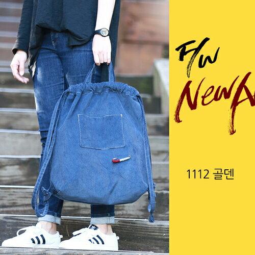 後背包 韓國LEFTFIELD絨布束口背包 手提包 書包 NO.1112-골덴【包包阿者西】