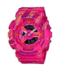CASIO BABY-G BA-110TX-4A 霧狀蠟筆紋雙顯流行腕錶/43.4mm