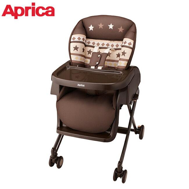 APRICA 高低可調式餐椅搖床YuraLism-滿天星星 BR