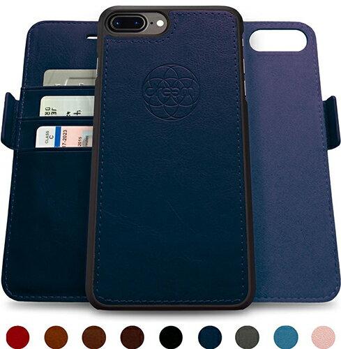 【美國代購】Dreem iPhone 7/8 Plus 專用: Wallet Case with Detachable SlimCase 皮革錢包款式 含可分離保護套