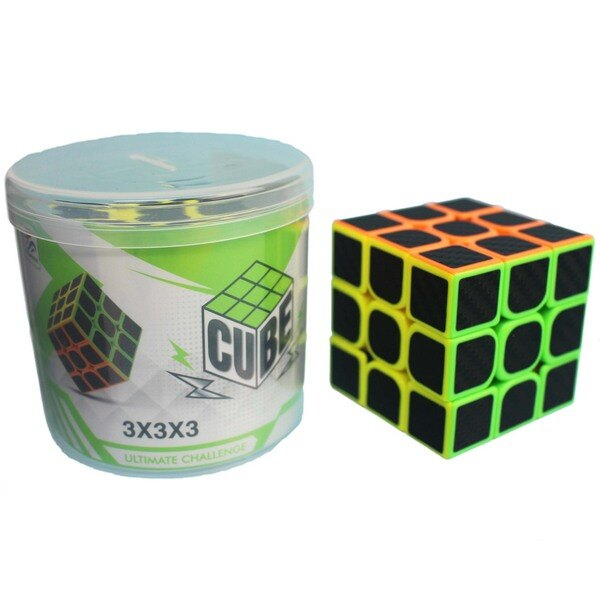 CUBE三階競技魔術方塊 桶裝(防滑5.7cm)/一個入{定100} 三階魔方 3x3x3 比賽專用魔方~首555-2