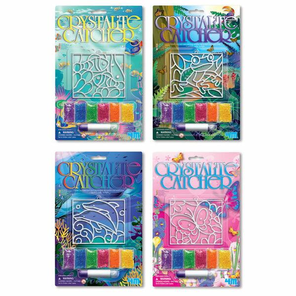 【4M 創意 DIY】Crystalite Catcher 大自然珠珠畫 00-03633 (四款可選)