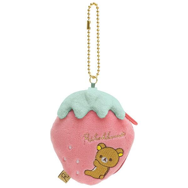 X射線【C704816】懶熊Rilakkuma15週年草莓零錢包,美妝小物包筆袋面紙包化妝包零錢包收納包皮夾手機袋鑰匙包