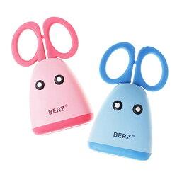 【奇買親子購物網】 英國 貝氏BERZ 兒童食物剪刀組(藍色/粉色)