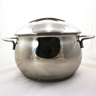 【珍昕】 COCONUT椰型雙耳不鏽鋼三用湯鍋 24CM/6.0L
