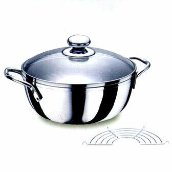 【珍昕】 多功能不鏽鋼炸煮通用鍋20cm