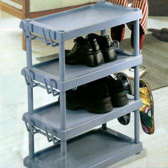 【珍昕】 佳斯捷 總理大臣組合鞋架-4層(W55 X D30 X H70 CM)附拖鞋架