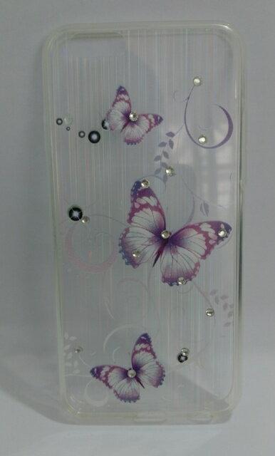 Ultimate-Apple iPhone 6/6S (4.7吋) 透彩漾(紫蝶) 彩畫晶鑽雷射軟質保護殼 軟殼 保護框
