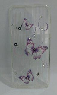 亞特米:Ultimate-AppleiPhone6Plus透彩漾(紫蝶)彩畫晶鑽雷射軟質保護殼軟殼保護框