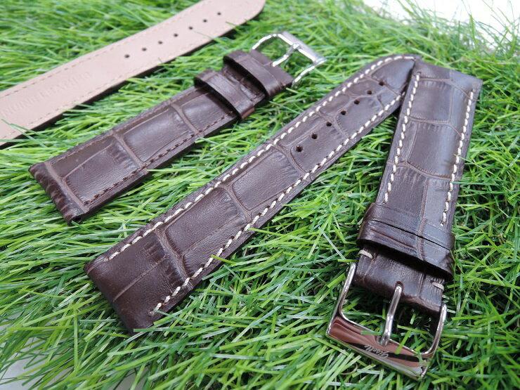 浪琴 LONGINES [ 21mm收18MM] 代用進口高級錶帶