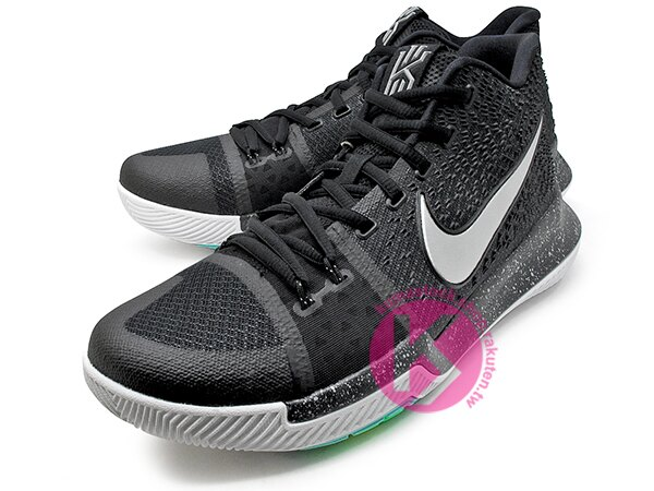 [28cm] 2017 Kyrie Irving 最新代言鞋款 NIKE KYRIE 3 III EP BLACK ICE 黑白 HYPERFUSE 鞋面 後 ZOOM AIR 氣墊 UNCLE DREW (852396-018) ! 1