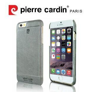 [ iPhone6/6S ] Pierre Cardin法國皮爾卡登4.7吋高級牛皮品牌經典不敗款真皮手機殼/保護殼 灰色