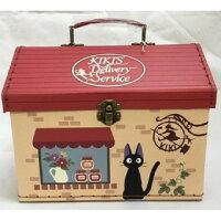 魔女宅急便周邊商品推薦魔女宅急便 房屋紙盒收納提箱 手提箱 收納盒 吉吉 吉卜力 日貨 正版授權J00012537