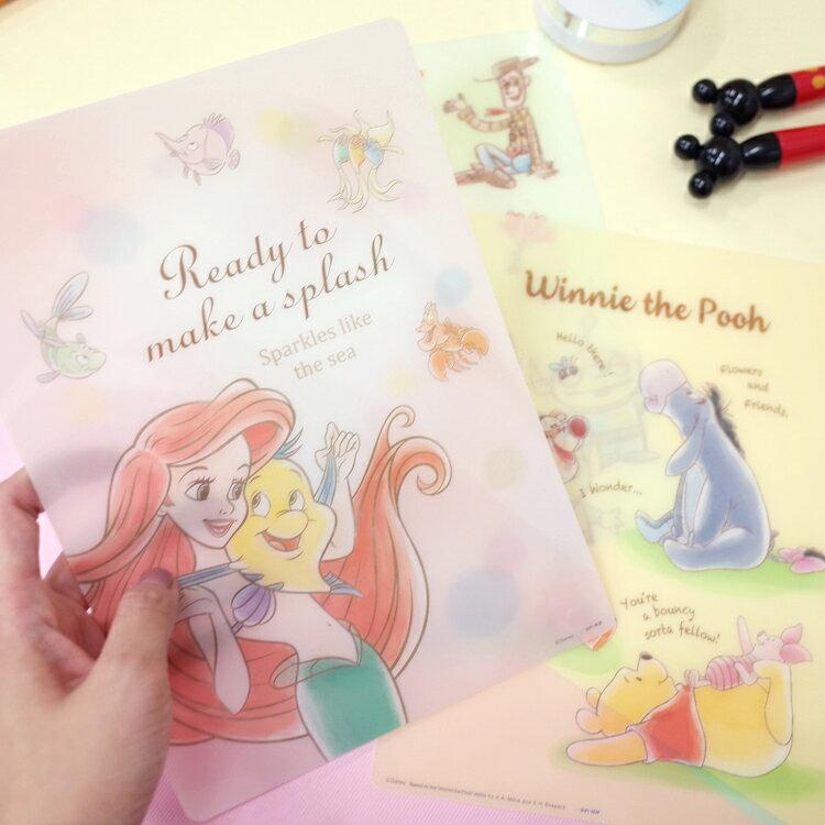 PGS7 日本迪士尼系列商品 - 迪士尼 粉嫩 手繪 系列 墊板 維尼 愛麗兒 玩具總動員【SHJ7327】