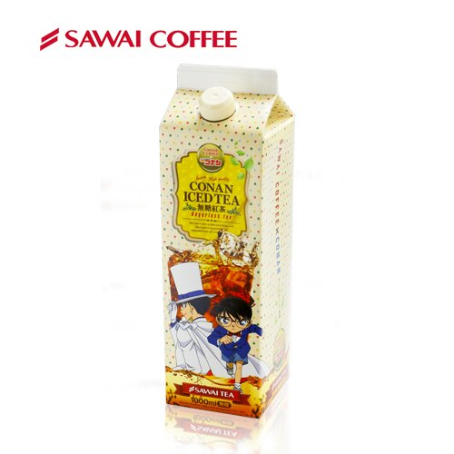【澤井咖啡】冰咖啡名偵探柯南系列 - 無糖紅茶100ML