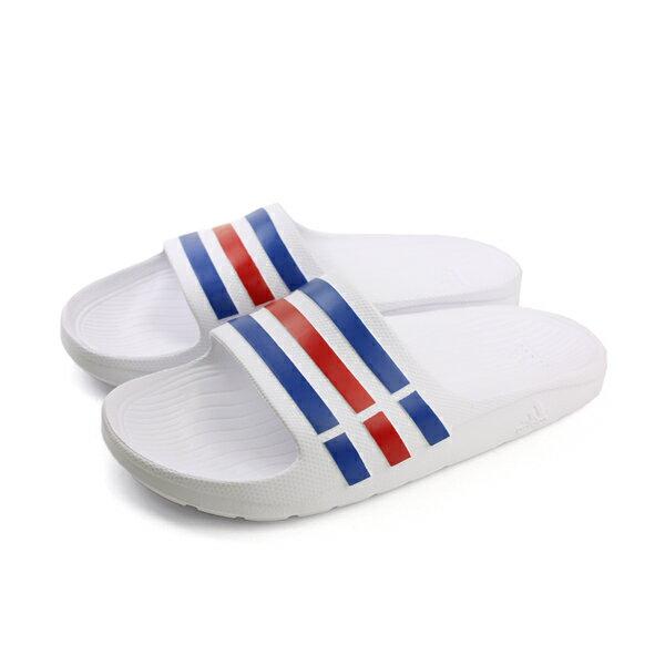 adidas 拖鞋 白色 男女鞋 U43664 no431