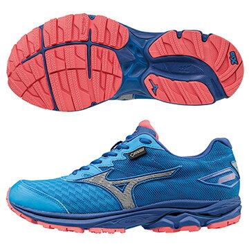 J1GD177405(藍綠X銀)暢銷鞋款第20代 WAVE RIDER 20 G-TX (W) GORE-TEX 防水透氣女慢跑鞋 A【美津濃MIZUNO】