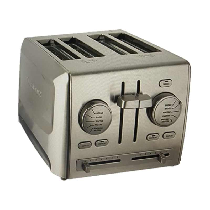 [9美國直購] Cuisinart 4片式 不鏽鋼烤麵包機 CPT-640 7 Shade settings for the perfect piece of toast