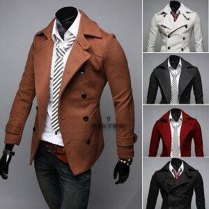 2013新品男款毛呢外套 男式戶外休閒呢大衣 男士時尚修身毛呢大衣