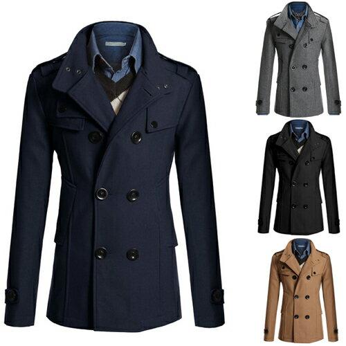 2013秋冬새로운 男式最新時尚韓味修身百搭中長款風衣 外套