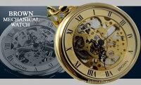 經典古董懷錶布朗925 骨架手纏繞黃金 日本10天直購品 0