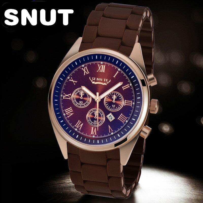 正品男士手錶真皮帶手錶日曆夜光防水手錶復古 十天