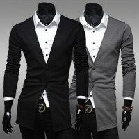男生面試服裝穿著西裝推薦到V領雙釦修身 顯瘦 西裝外套 十天預購就在窩克yes99buy樂天分店推薦男生面試服裝穿著西裝