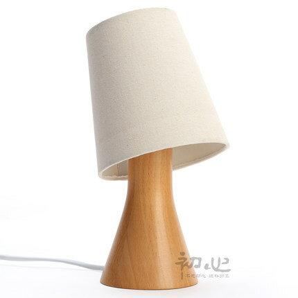 創意可調光小夜燈 原木質檯燈客廳書房臥室床頭燈 十天預購