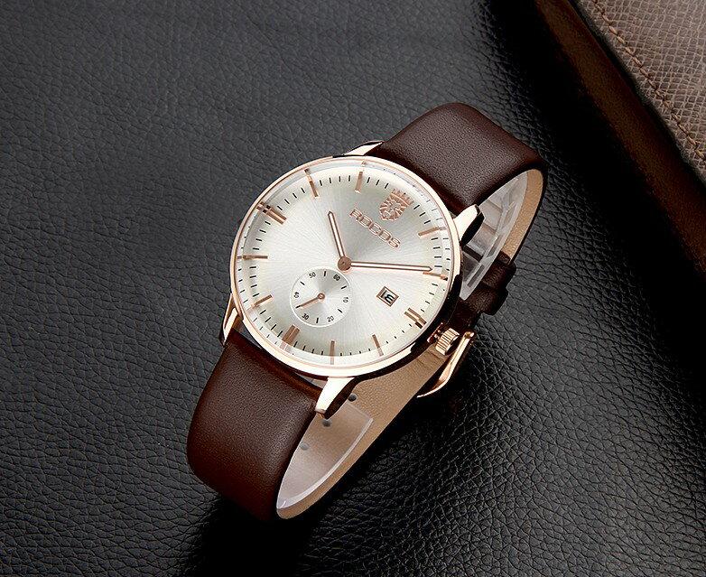 瑞士正品男表 超薄皮帶手錶 十天預購