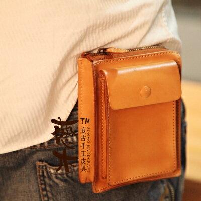 復古牛皮手工智慧型手機包 十天預購