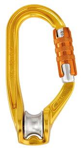 PetzlROLLCLIPTRIACT-LOCK滑輪鎖扣滑輪勾環Pulleycarabiner三段鎖版P74-TL