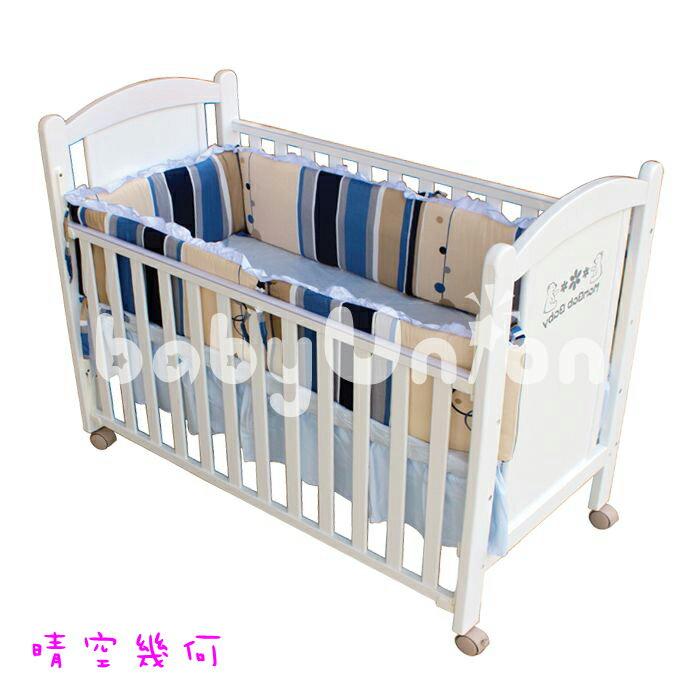Mam Bab夢貝比 - 糖果純棉嬰兒床加高單護圈 -L (68x120cm大床適用) 2