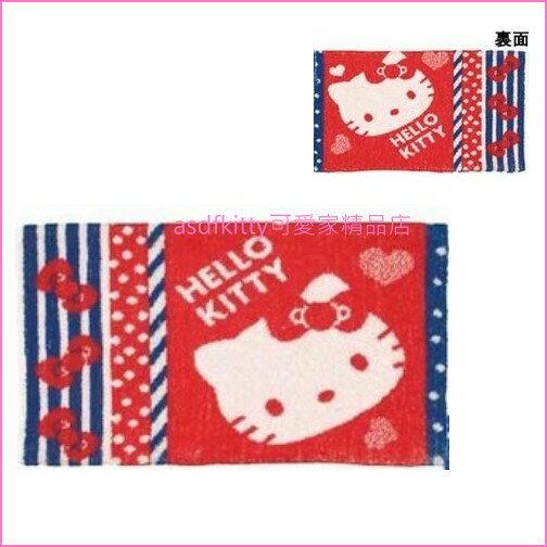 asdfkitty可愛家☆KITTY大臉兒童枕頭套-25*39公分-毛巾布材質-日本正版商品
