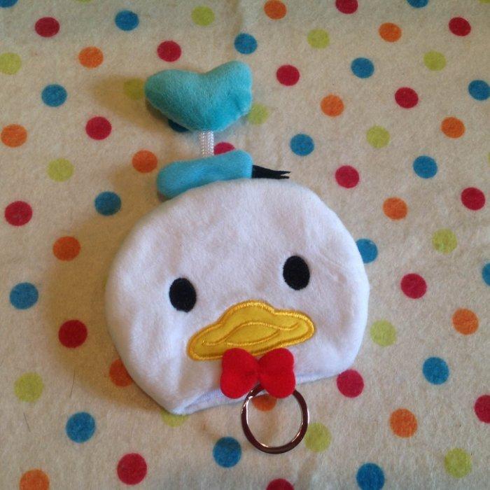 =優 =迪士尼tsum tsum 疊疊樂唐老鴨duck鑰匙包 鑰匙套 鑰匙圈 收納袋 收納包