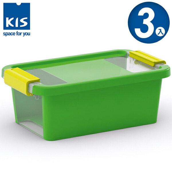 E&J【012011-05】義大利 KIS BI BOX 單開收納箱 XS 綠色 3入;收納盒/整理箱/收納櫃/玩具盒