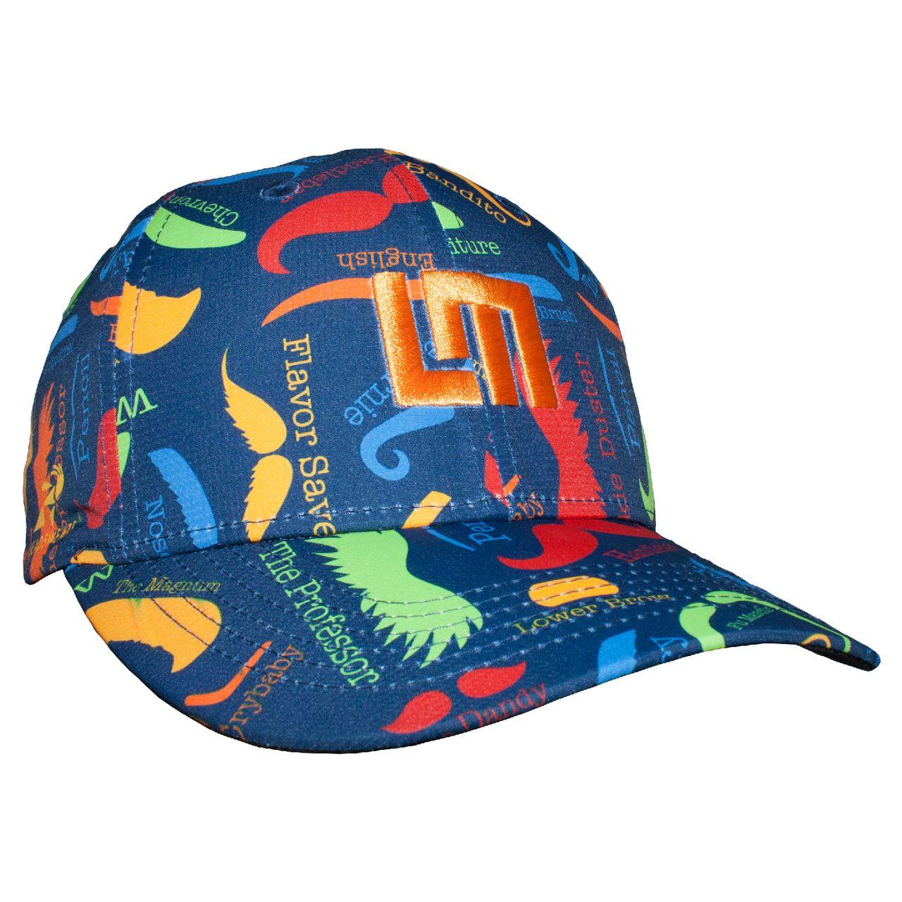 LOUDMOUTH 英國高爾夫服飾品牌-繽紛翹鬍子休閒運動帽