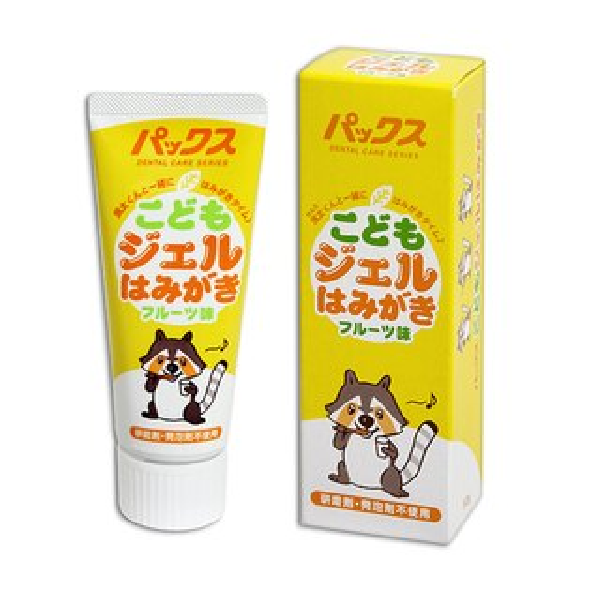 AKACHAN阿卡將小浣熊嬰幼兒牙膏-50g(水果味)