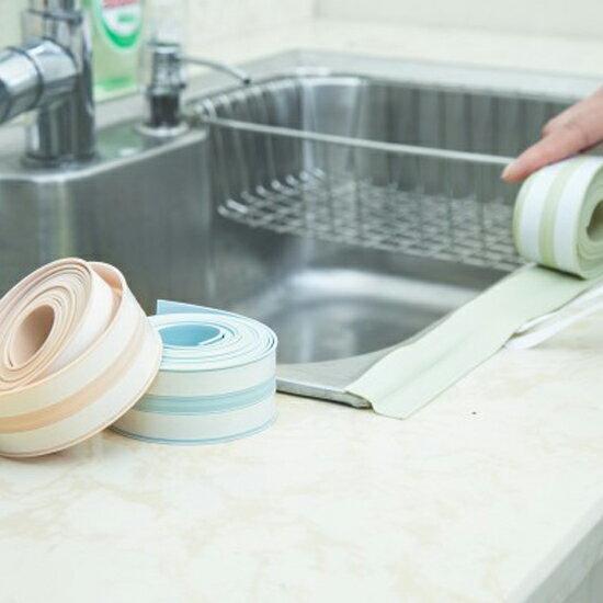 ?MY COLOR?廚房水槽縫隙防汙條邊條 防塵 防油 居家 水槽 防霉 防水 密封 膠條 黏貼【T14-2】