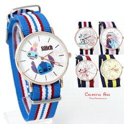MIT 迪士尼系列帆布童錶 【NE2028】柒彩年代