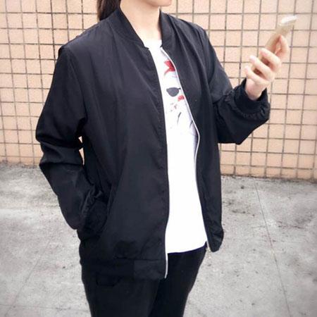 外套 韓妞最愛MA-1休閒飛行外套薄款防曬外套【C3001-1】☆雙兒網☆ 1