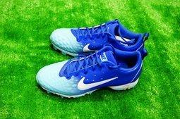 棒球世界全新 Nike HYPERDIAMOND 兒童壘球膠釘鞋(856435-414) 特價湖水藍綠配色