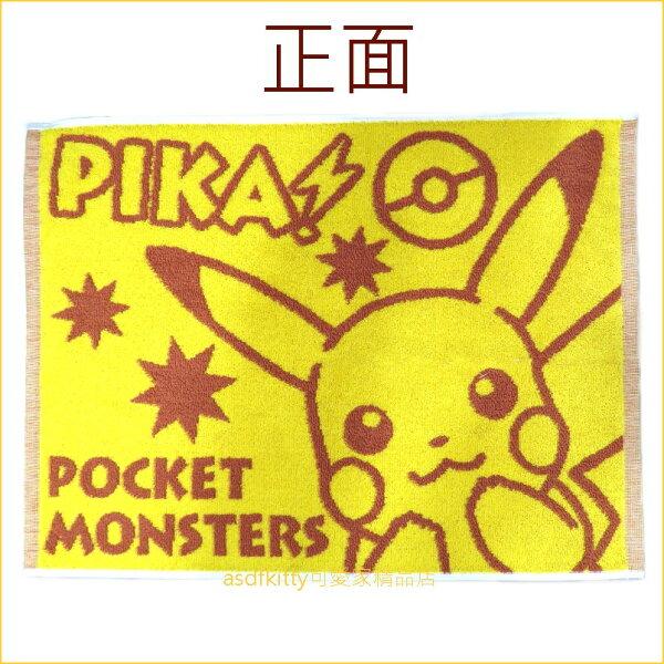 asdfkitty可愛家☆寶可夢神奇寶貝皮卡丘腳踏墊-也可當防塵布使用-45*60公分-日本正版商品