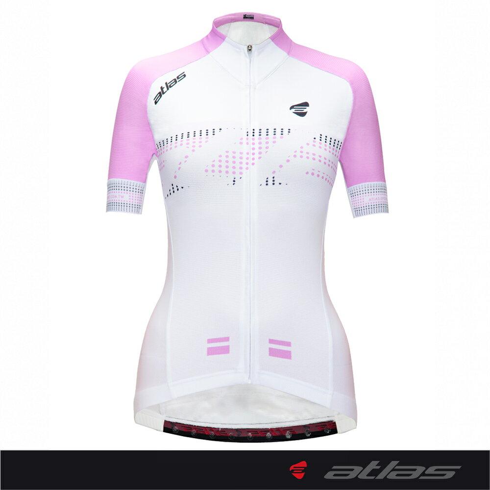 Atlas 亞特力士 短袖車衣-女款 HJ-1213(Pop Style-粉紫) 24℃~30℃